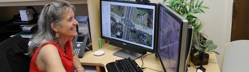 Kitty Hancock and Center for Geospatial Information Technology receive a 2019 Governor's Transportation Safety Award